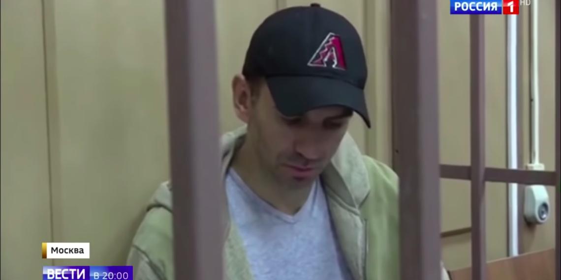 Михаил Абызов в Басманном суде Москвы на следующий день после задержания/ скриншот видео телеканала Россия 1