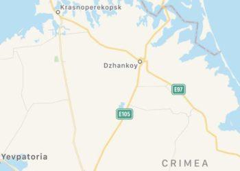 скриншот части территории Крыма в приложении Apple Maps