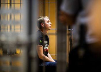 Иван Голунов во время суда по мере пресечения / Евгений Фельдман / «Медуза»