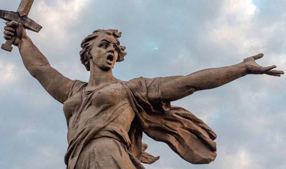 Скульптура «Родина-мать зовет!»/@Volkov_Alx/Twitter