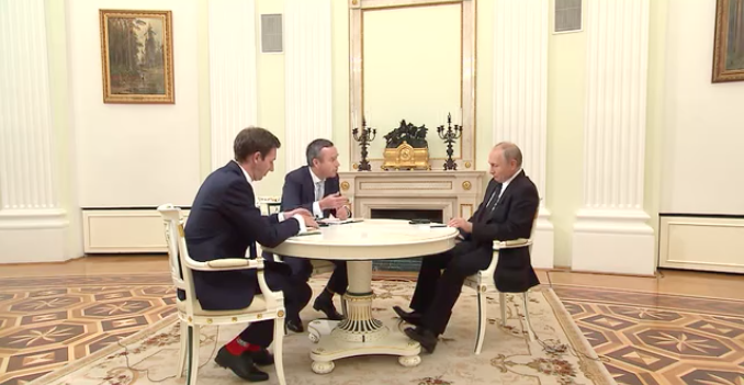 Владимир Путин и журналисты FT / kremlin.ru