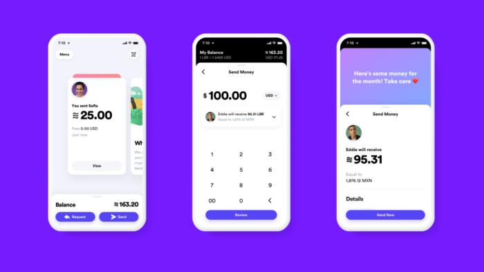 Прототип приложения для обмена криптовалютой Libra/ Facebook.com