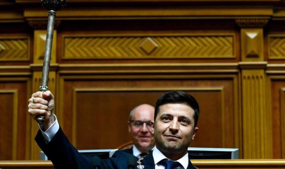 Владимир Зеленский принимает президентскую присягу/ Официальная страница в Facebook