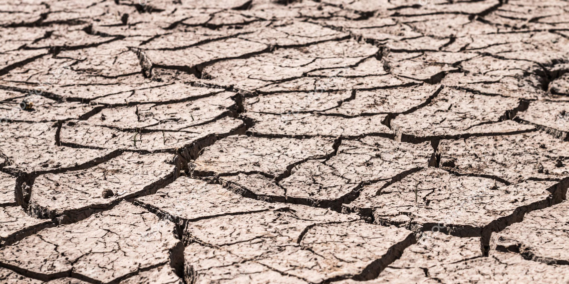 Crack ground of drought background.